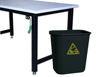 WBAS28 ESD Wastebasket