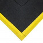 TileSTAT Interlocking Anti-Fatigue ESD Tiles w/ Yellow Beveled Edges